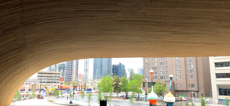 Wood as a regular material in urban architecture